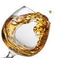 Splash of cognac in glass isolated - PhotoDune Item for Sale