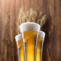Glass of beer with wheat on wood - PhotoDune Item for Sale