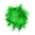 Green powder explosion isolated on white - PhotoDune Item for Sale