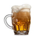 Beer in glass isolated on white - PhotoDune Item for Sale