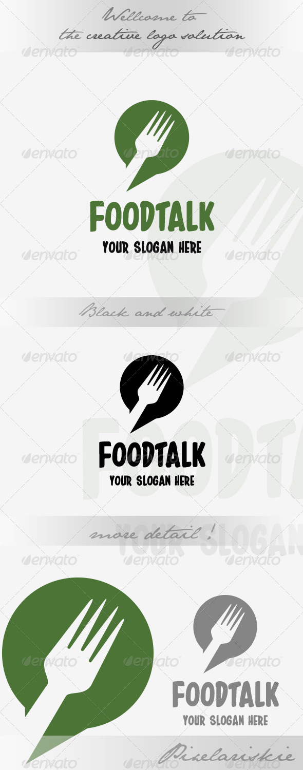GraphicRiver Food Talk Logo 8568266