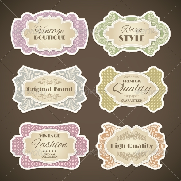 GraphicRiver Vintage Labels Set 8568267