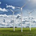 Wind generators turbines on summer landscape - PhotoDune Item for Sale