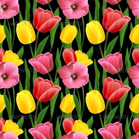 GraphicRiver Tulip Seamless Background 8568277
