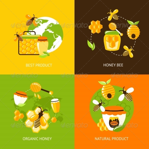 GraphicRiver Honey Icons Set 8568286