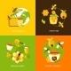 Honey Icons Set - GraphicRiver Item for Sale