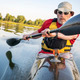 paddling a  fast kayak - PhotoDune Item for Sale