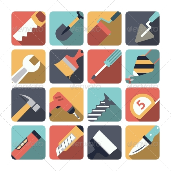 GraphicRiver Home Repair Tools Icons 8568311
