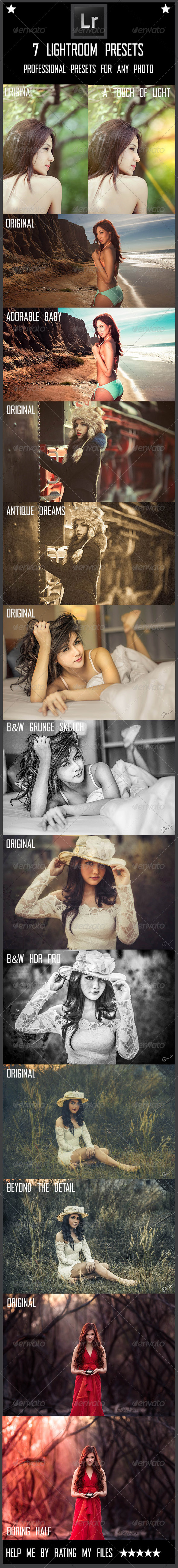 GraphicRiver 7 Lightroom Presets 8566073