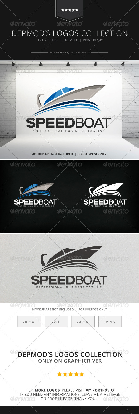 GraphicRiver Speedboat Logo 8568830