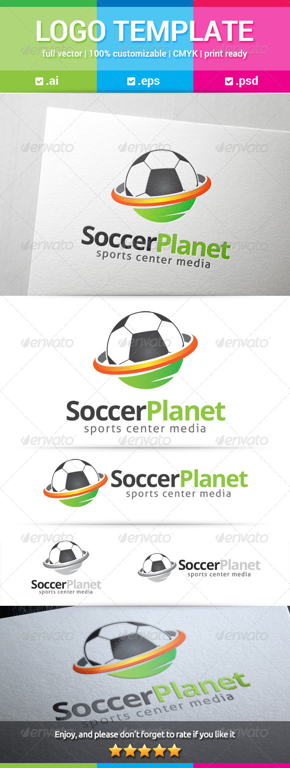 GraphicRiver Soccer Planet Logo 8568960
