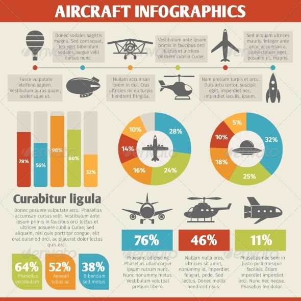 GraphicRiver Aircraft Infographics 8569064
