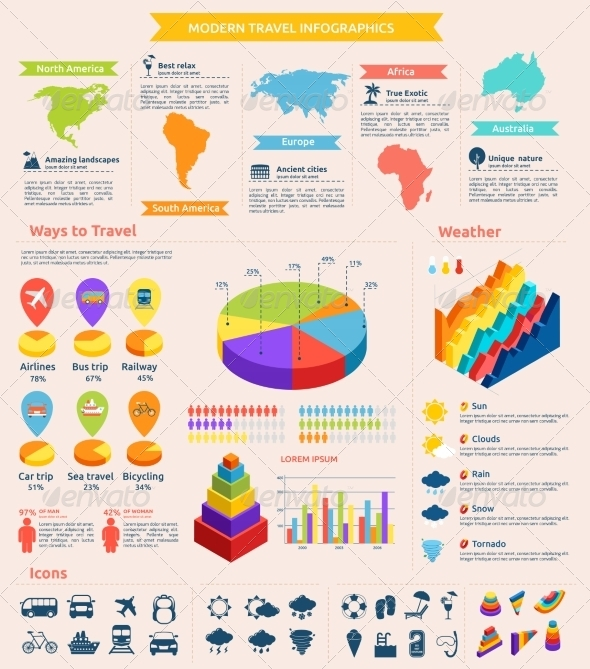 GraphicRiver Travel Flat Infographics 8569077