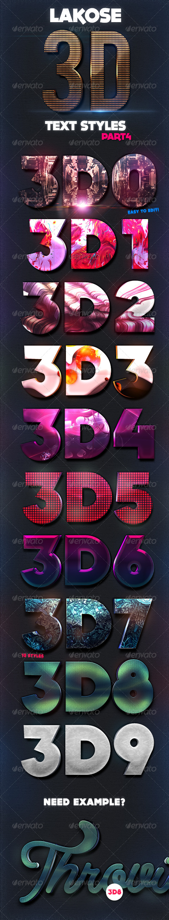 GraphicRiver Lakose 3D Text Styles Part 4 8569088