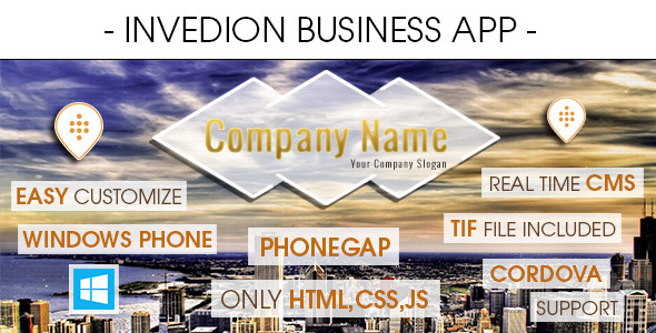 CodeCanyon Business App With CMS Windows Phone 8569230
