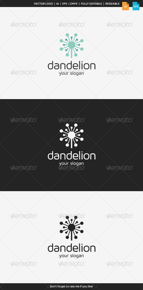 GraphicRiver Dandelion Logo 8569270