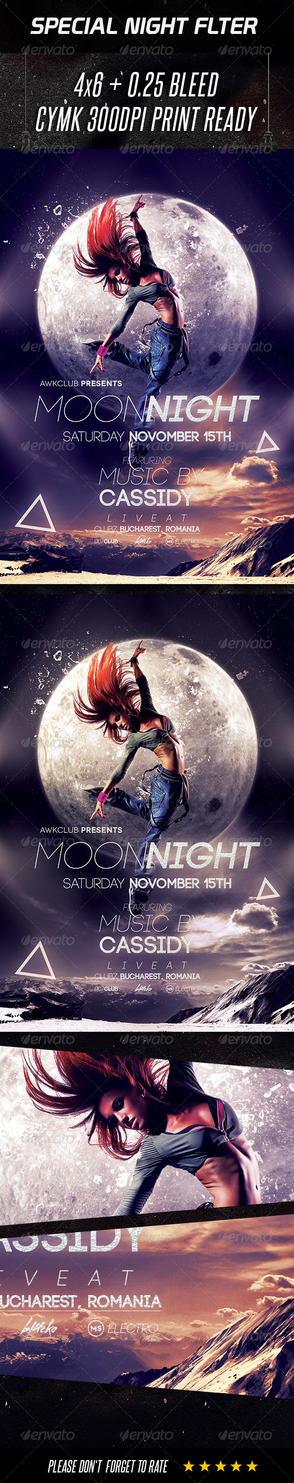 GraphicRiver Special Night Flyer Moon Night 8569357