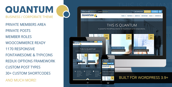ThemeForest QUANTUM Responsive Business WordPress Theme 8548354