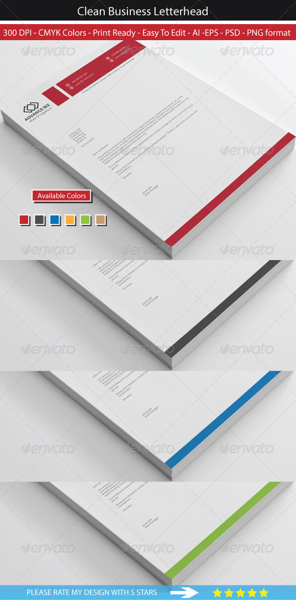 GraphicRiver Corporate Advance Letterhead 8569441