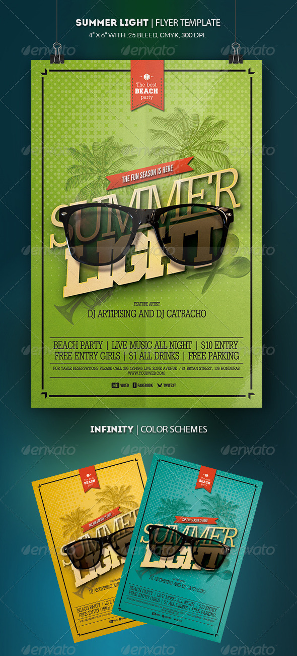 GraphicRiver Summer Light Flyer Template 8569487