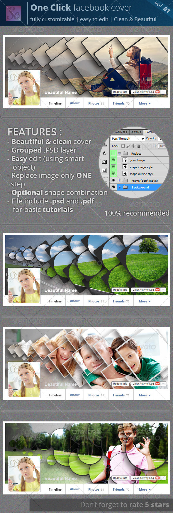 GraphicRiver One Click Facebook Cover Vol.01 8557535