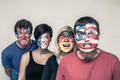 Scary people with flags on faces - PhotoDune Item for Sale