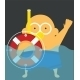 Swimmer with Lifebuoy - GraphicRiver Item for Sale