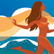 Woman Running on Beach - GraphicRiver Item for Sale