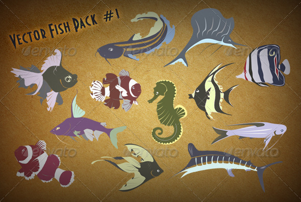 GraphicRiver Fish Set 1 8569950