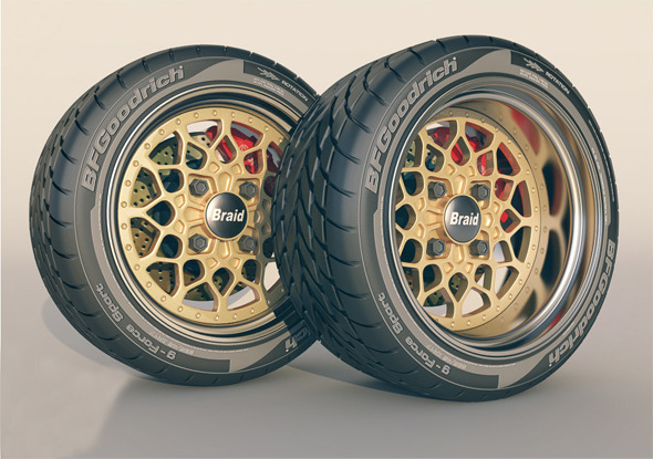 3DOcean Braid 4 RC wheel & tyre 8570205