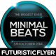 Minimal Beats Futuristic Flyer Design - GraphicRiver Item for Sale