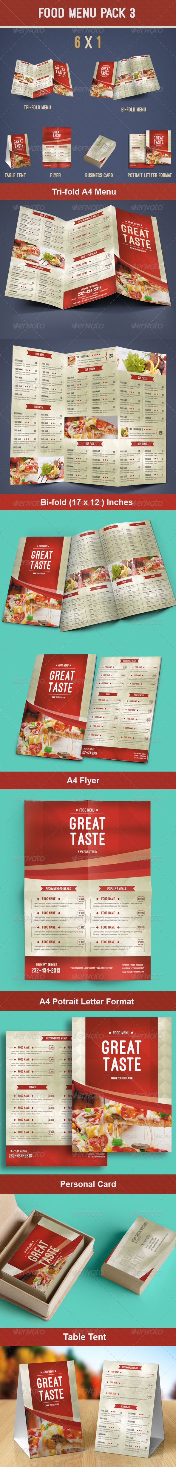 GraphicRiver Food Menu Pack 3 8565596