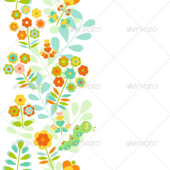 GraphicRiver Seamless Floral Border 8570469