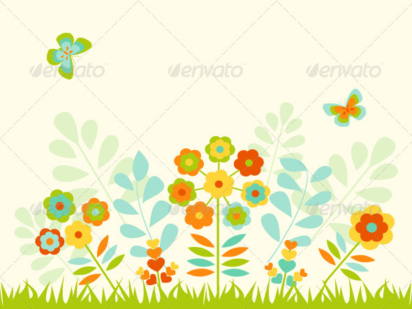 GraphicRiver Greeting Card with Flowers 8570502