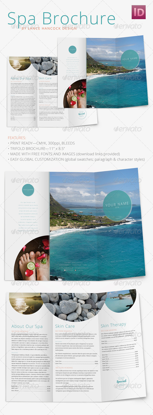 GraphicRiver Spa Wellness Brochure Trifold 8570531