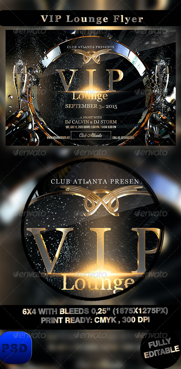 GraphicRiver VIP Lounge Flyer 8566697