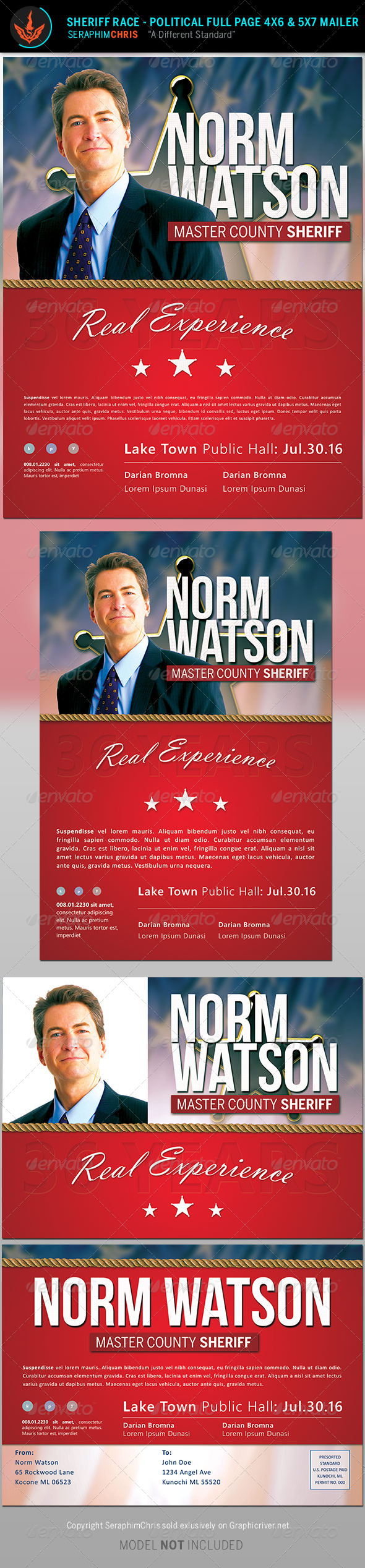 GraphicRiver Sheriff Race Political Flyer and Mailer Template 8570825