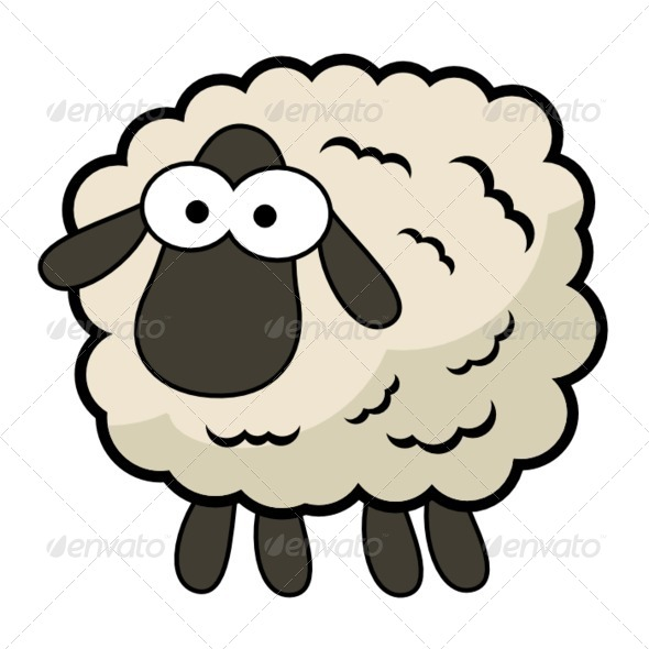 GraphicRiver Cartoon Sheep 8574659