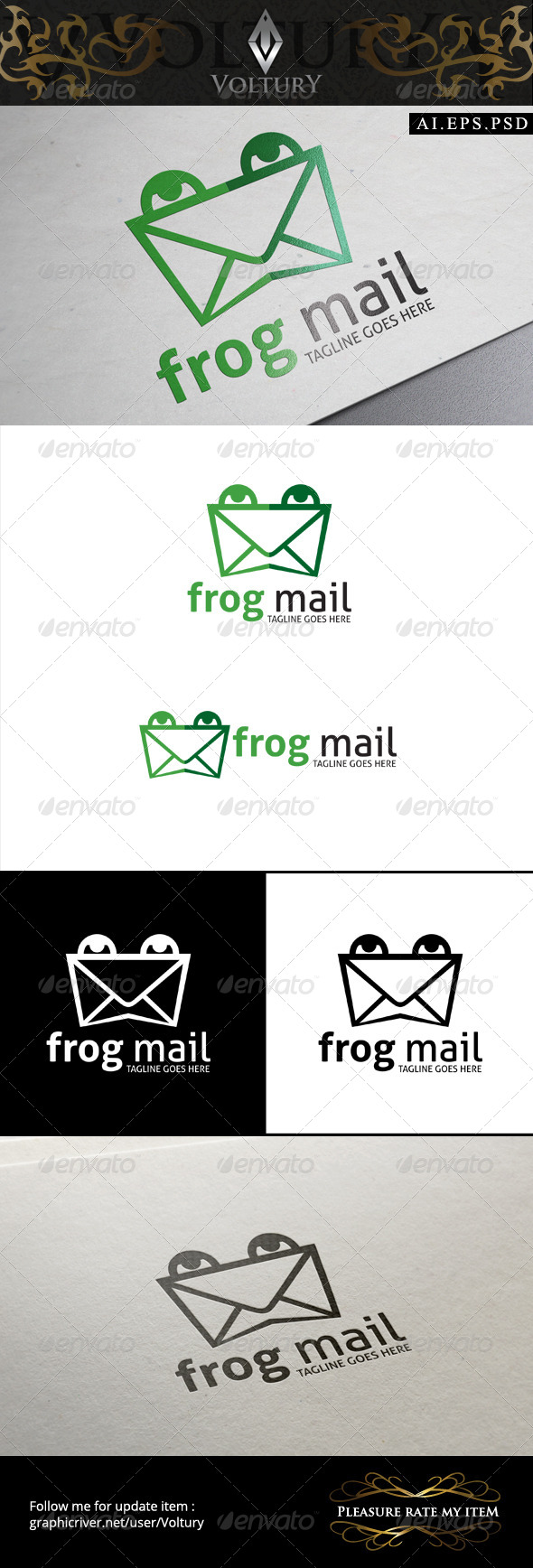 GraphicRiver Frog Mail Logo 8574711
