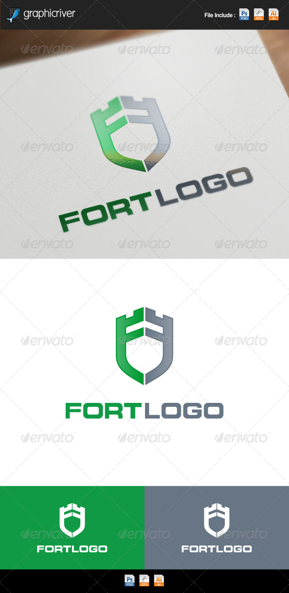GraphicRiver Fort Castle Letter F 8569232