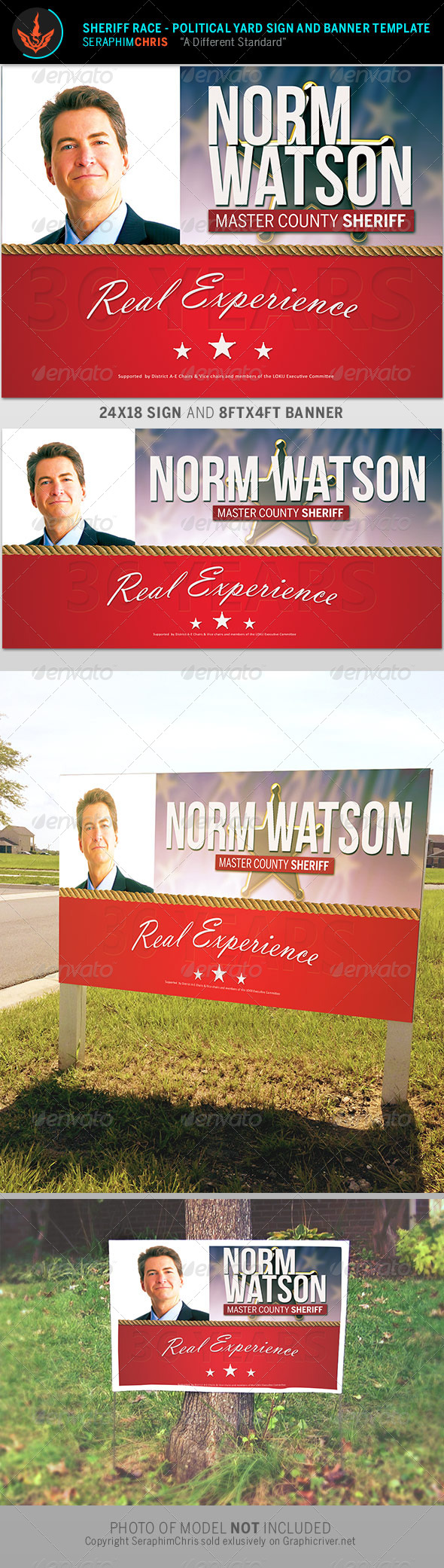 GraphicRiver Sheriff Race Political Sign and Banner Template 8574788
