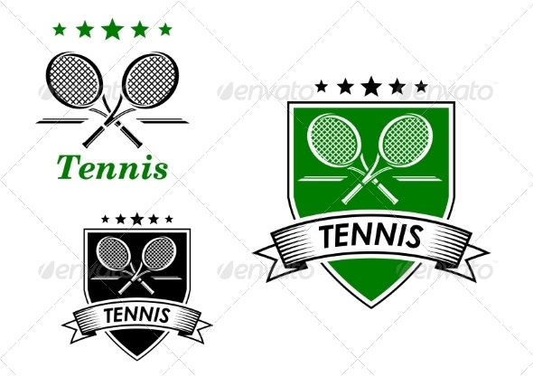 GraphicRiver Tennis Sporting Emblems 8574838