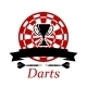 Darts Emblem with Trophy Cup - GraphicRiver Item for Sale