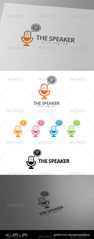 GraphicRiver The Speaker Logo 8574940