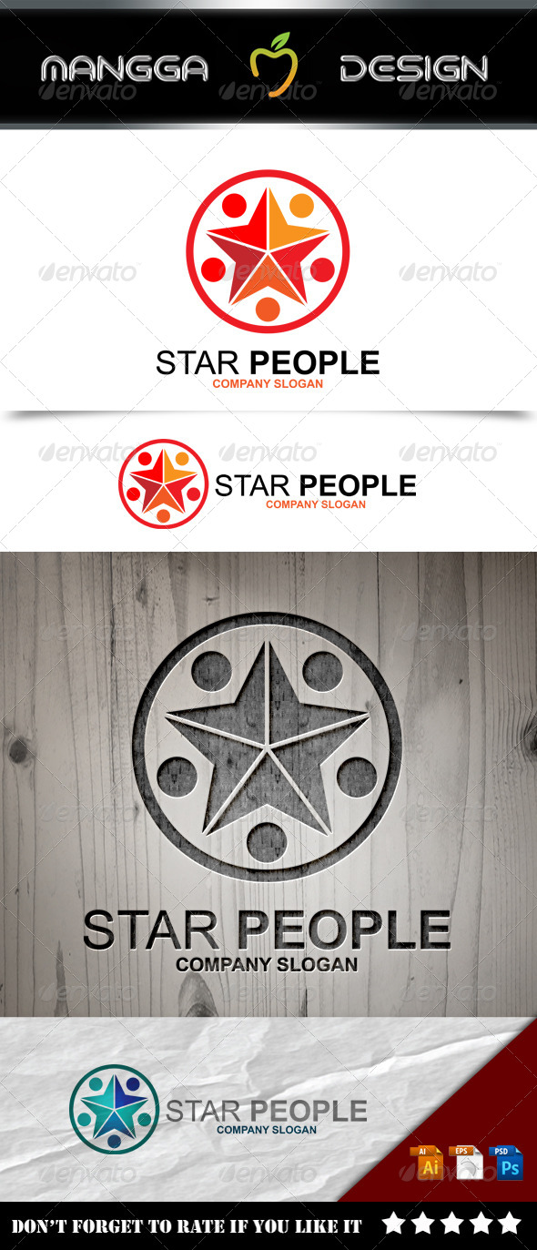 GraphicRiver Star People Logo 8574964