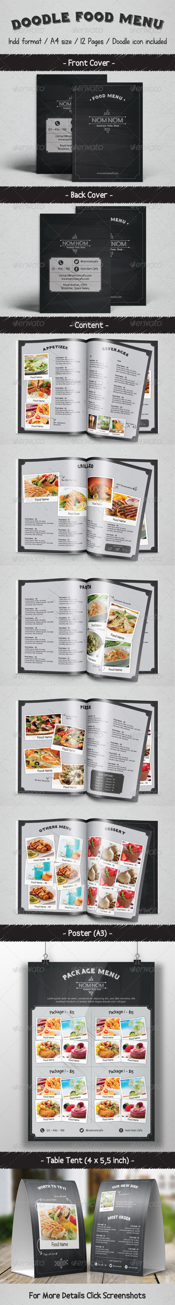 GraphicRiver Doodle Food Menu Package 8574967