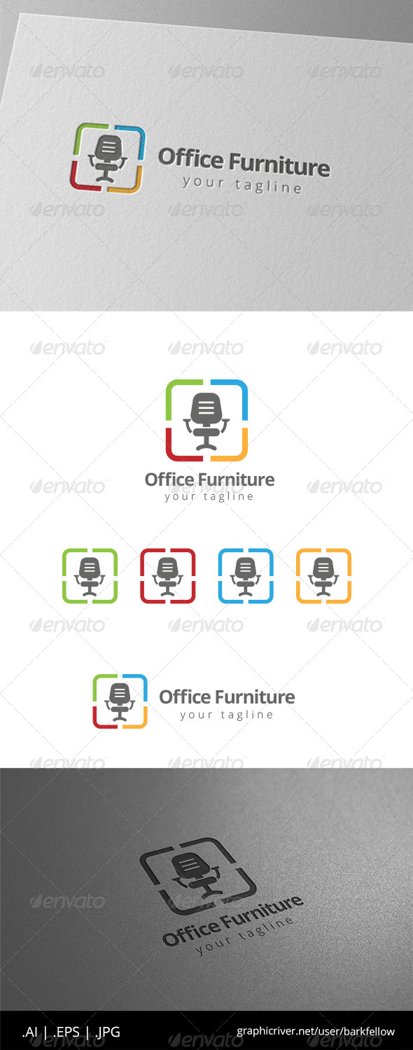 GraphicRiver Office Chair Furniture Logo 8575461