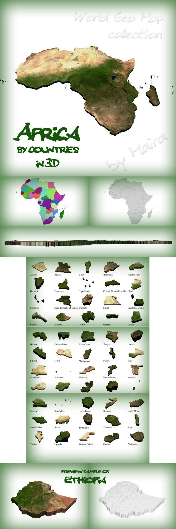 3DOcean World Geo Map Africa 8575483