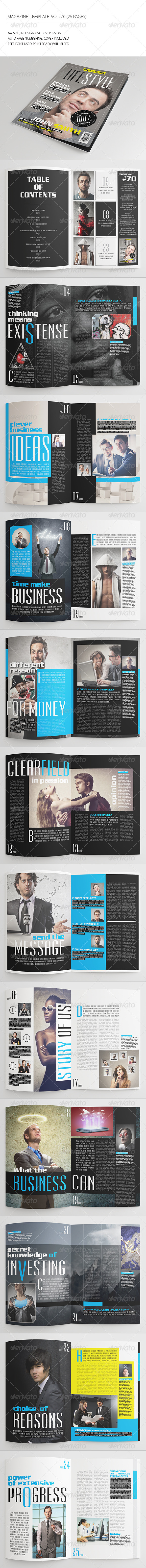 GraphicRiver 25 Pages Universal Magazine Vol70 8575662
