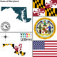 Map of state Maryland, USA - GraphicRiver Item for Sale